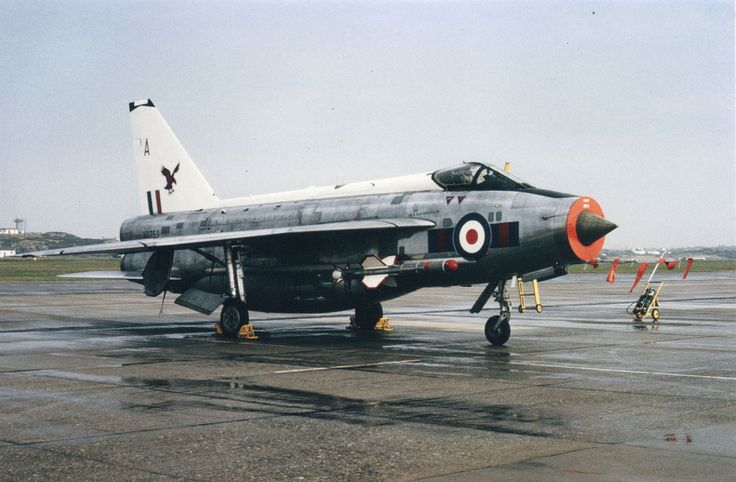 23 Sqn Lightning F.6, XR753 'A' at RAF Valley, Aug 1975