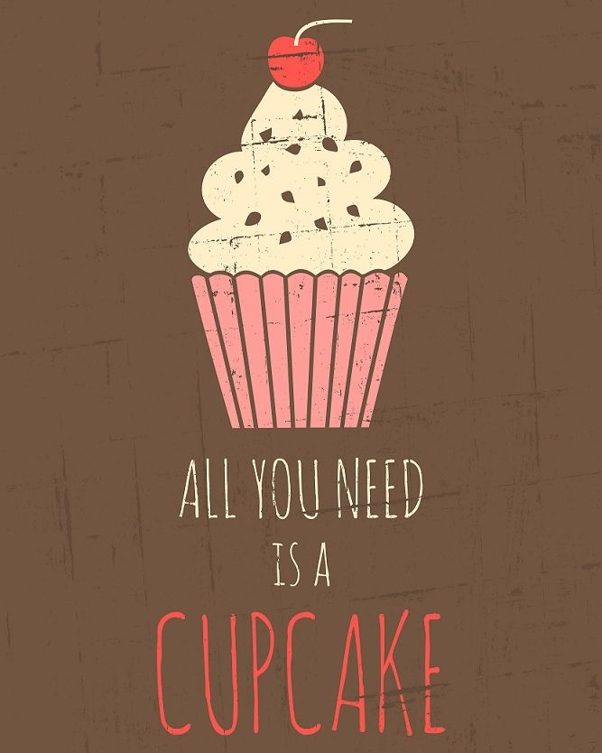 RETRO: Cupcake poster | #cupcake #poster #text