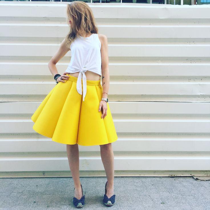Street glam. Juicy Lemon Skirt by Sweet Revenge