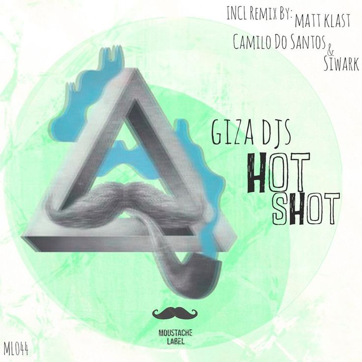 #gizadjs #tech #house #music #dj #producer #cover #moustache #label