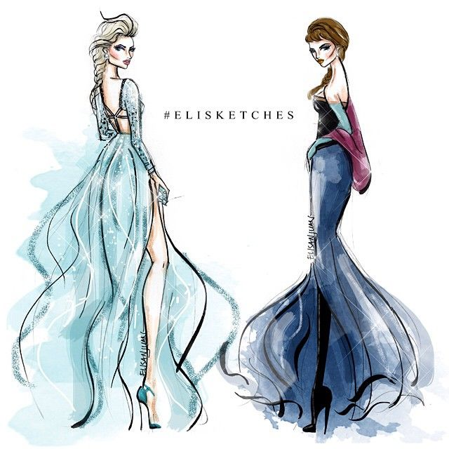 Anna & Elsa (Fashion by EliStJohn @Instagram) #Frozen