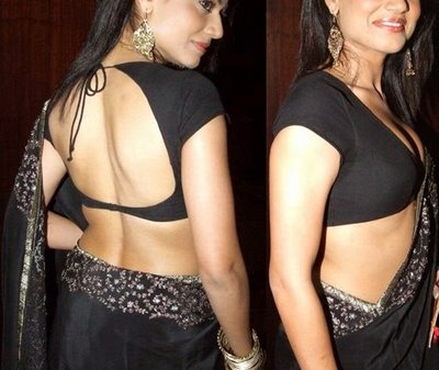 ONLY 4 SHE: Saree blouse design