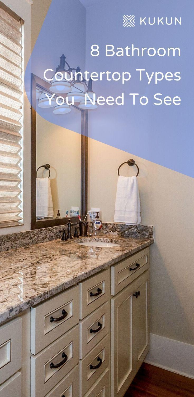 Bathroom Countertops 8 Beautiful And Practical Materials