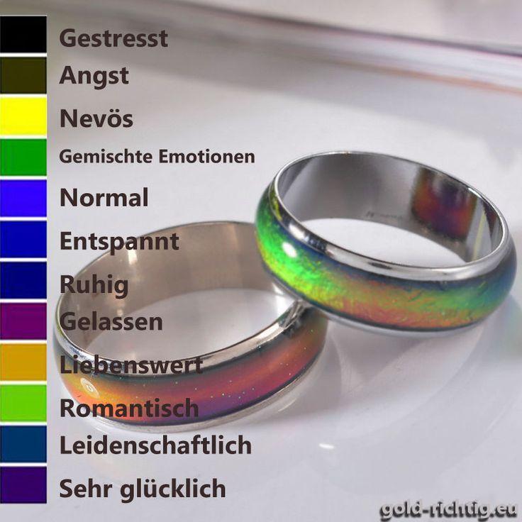 1 of 11: Stimmungsring Farbwechsel Ring Multicolor (Kinder Damen Schmuck Moodring) NEU