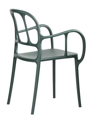 Stunning Mil Stackable armchair Plastic Black by Magis Design furniture and decoration with Made in Design