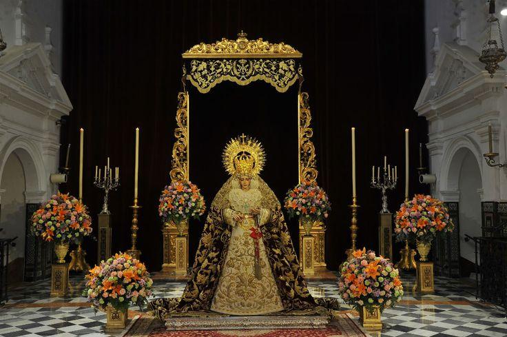 Besamanos de Nuestra Señora del Refugio. Hermandad de San Bernardo. Igleisa de San Bernardo. Sevilla. Enero 2017