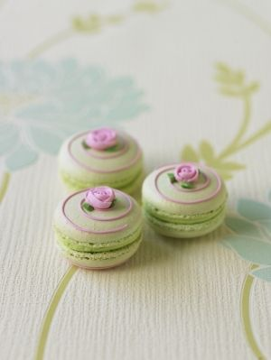 Lovely Pistachio Macarons (Just idea there is no recipe) & The 176 best decorated: macarons images on Pinterest | French ...