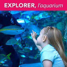 Fillette et aquarium