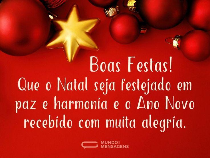Boas Festas com harmonia e alegria (...) https://www.mundodasmensagens.com/mensagem/boas-festas-com-harmonia-e-alegria.html