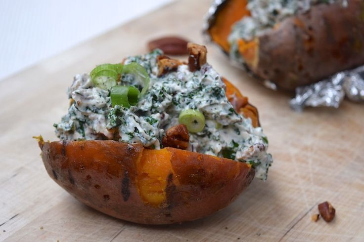 5+or+less:+Gepofte+zoete+aardappel+met+romige+boerenkool