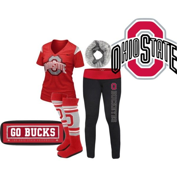 """OSU Football"" by kurlyglamour on Polyvore ohio state buckeyes game day fashion curled up on the couch"