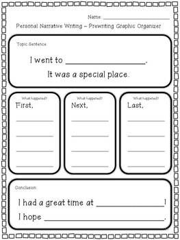 This personal narrative writing unit includes two complete writing projects and meets Common Core State Standards. Students will enjoy writing about going to a special place and a special day they have had.