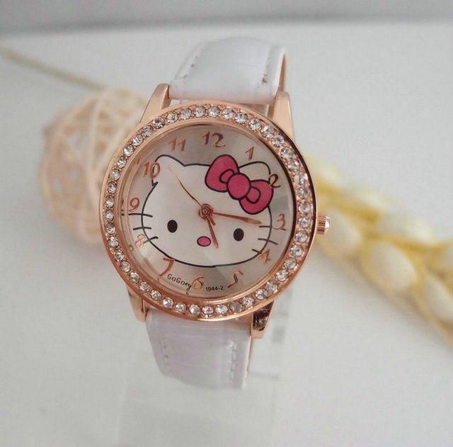 Hot Sales Gogoey Brand Fashion hello kitty watch children women crystal dress quartz wrist watch for girl kt020