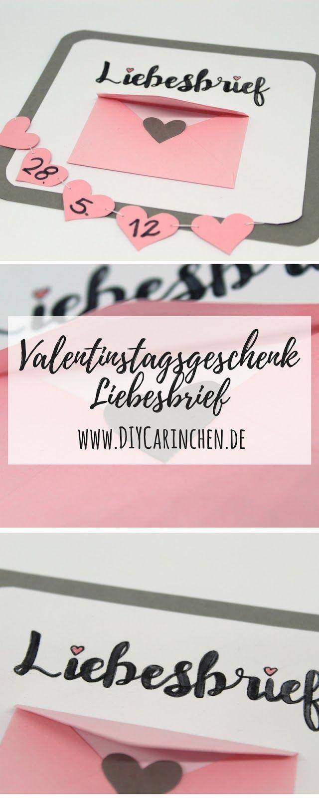 Anzeige   DIY Geschenk Zum Valentinstag Liebesbrief + Anleitung: DIY,  Basteln, Geschenke
