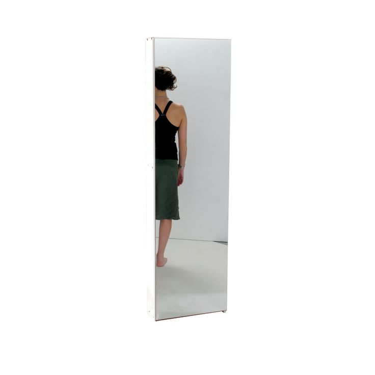 Scarpiera 1 anta a battente specchio/bianco