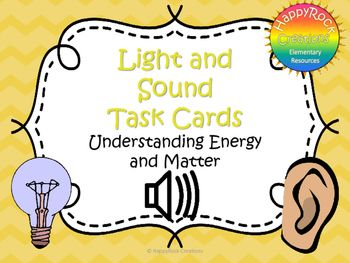 Looking for a great way to review or assess the grade 4 Ontario science unit Understanding Matter and Energy: Light and Sound? Check out these task cards! These 20 task cards cover a range of curriculum expectations and content information (definitions of key terms [vibration, pitch, refraction], properties of light and sound, impact of light and sound on daily life).