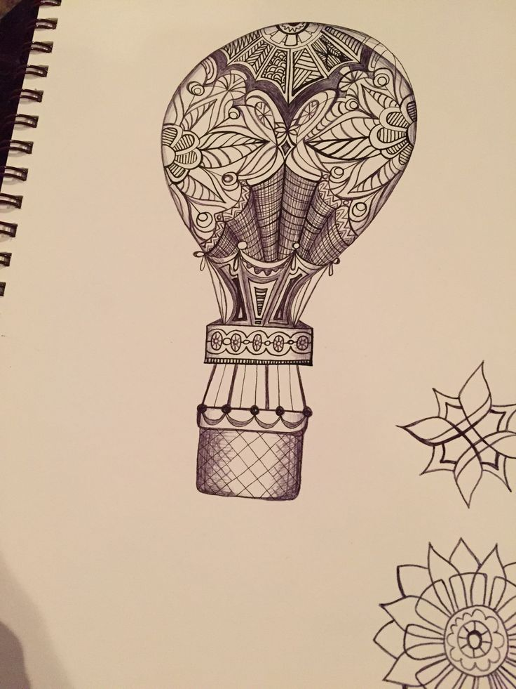 watercolor hot air balloon tattoo - Google Search