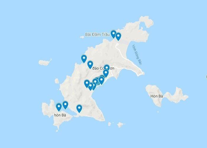 Bản đồ Con đảo Bản đồ Du Lịch Dao