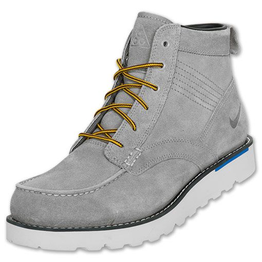 Nike Kingman Leather Men's Boots  | FinishLine.com | Charcoal/Blue