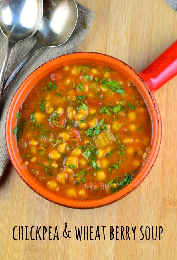 May I Have That Recipe   Chickpea and Wheat Berry Soup   http://mayihavethatrecipe.com
