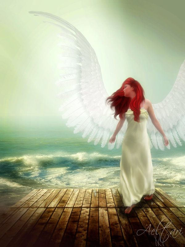 Seraphim celestial beings pinterest redheads angel for Angel wings wedding dress