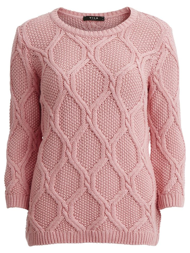 Vinina - Cable knitted top, Peony. Warm knitted top is a must have for the Autumn! #vilaclothed #knit #knittedtop #peonyclothes