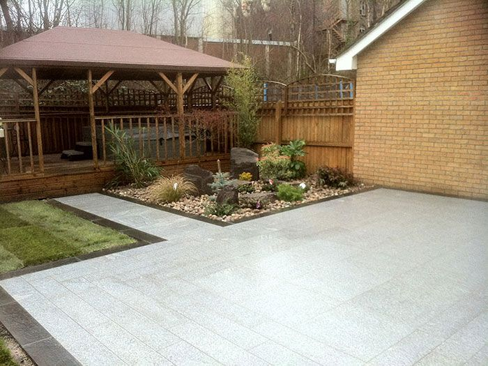lawn to paver transition