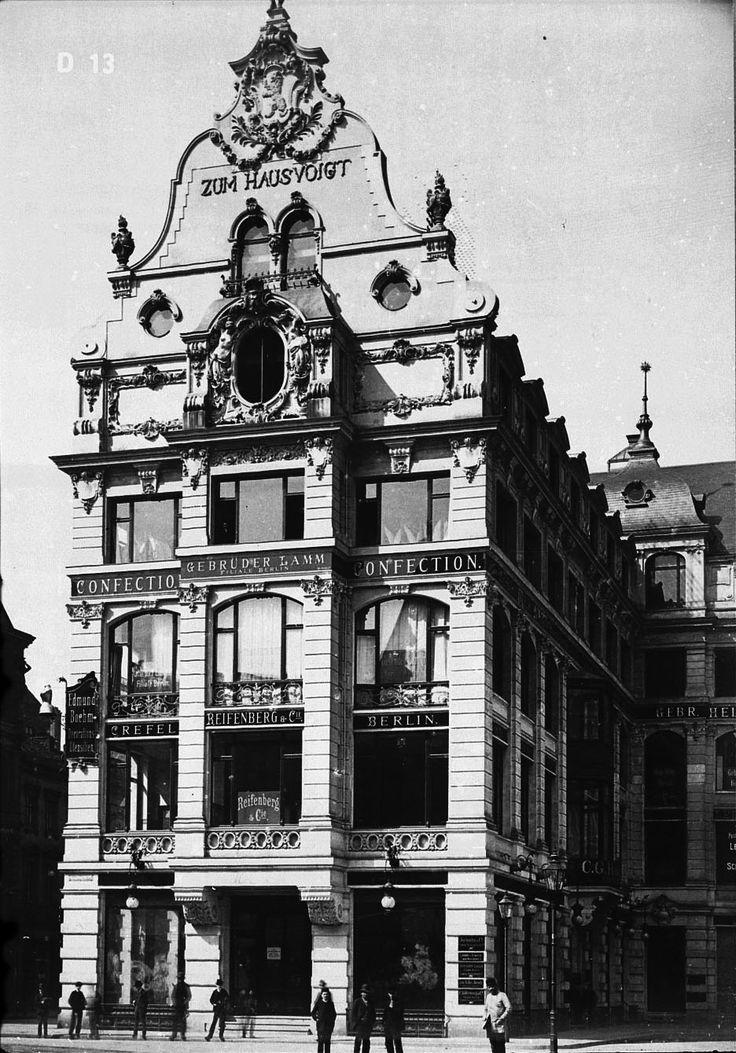 """1891 Berlin - Warenhaus """"Zum Hausvoigt"""", Hausvogteiplatz"""