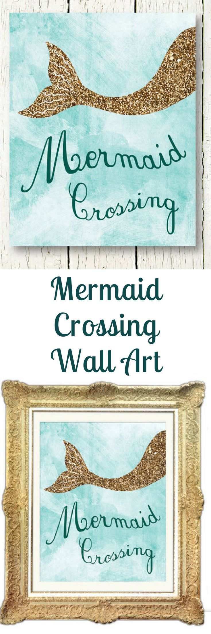 25 unique mermaid kids rooms ideas on pinterest little mermaid mermaid printable gold glitter wall art mermaid poster light blue wall decor ocean nursery girls room decor kids wall art daughter bedroom sign amipublicfo Images