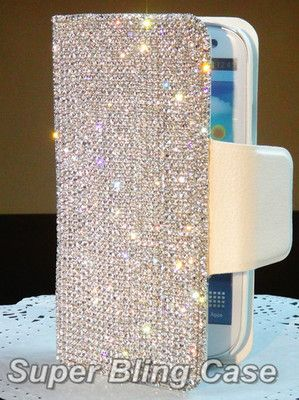 LUXURY ITEMS - Swarovski bling I-phone case.  Glamorous life . .