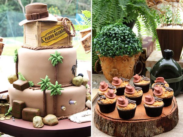 Festa inspirada nos filmes Indiana Jones - For all your cake decorating supplies, please visit craftcompany.co.uk