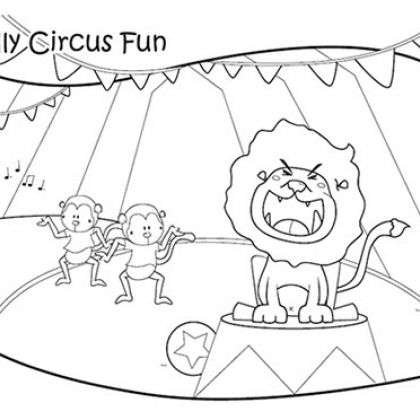 17 best images about circus themed classroom on pinterest for Carnival themed coloring pages