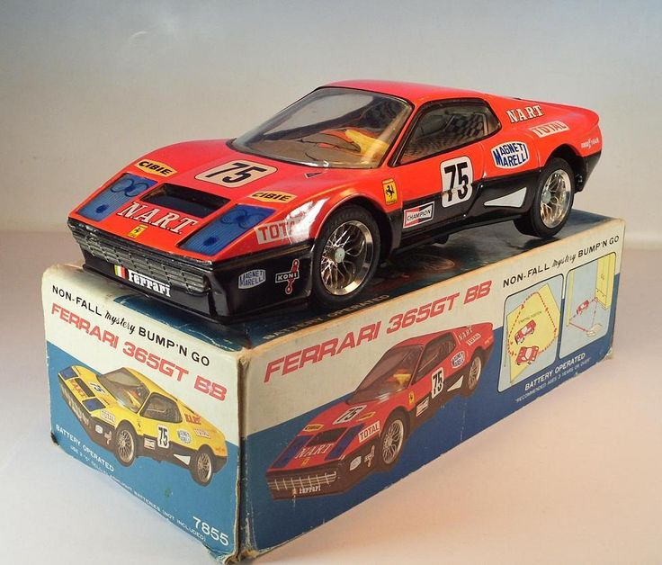 Taiyo Japan Blech Non Fall Mystery Bump´n Go Ferrari 365GT BB in O-Box #968