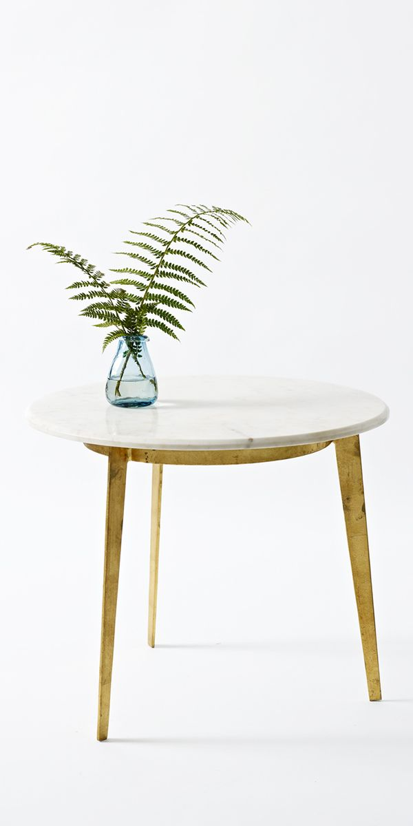 Luxe Round Side Table with a marble top