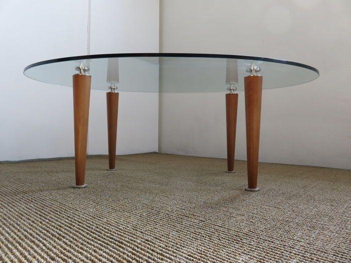 "Stallion Design - ovale salontafel collectie SFARZO model""Elle""  High Tech Furniture glass top tempered and cut glass finish. ""ELLE"" Centre Table Ovalshape 122L x 71 W x 43 H  EUR 1.00  Meer informatie"