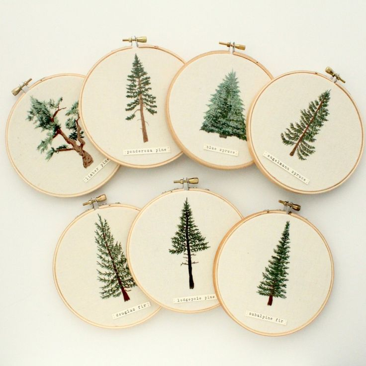 "sosuperawesome: "" Tree Studies Embroidery by Anna Hultin on Etsy "" – AniMALisch"