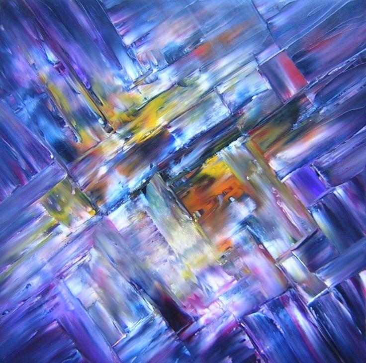 "SHANGRI-LA Original Oil Painting 24""X24"" by John R Jurisich"