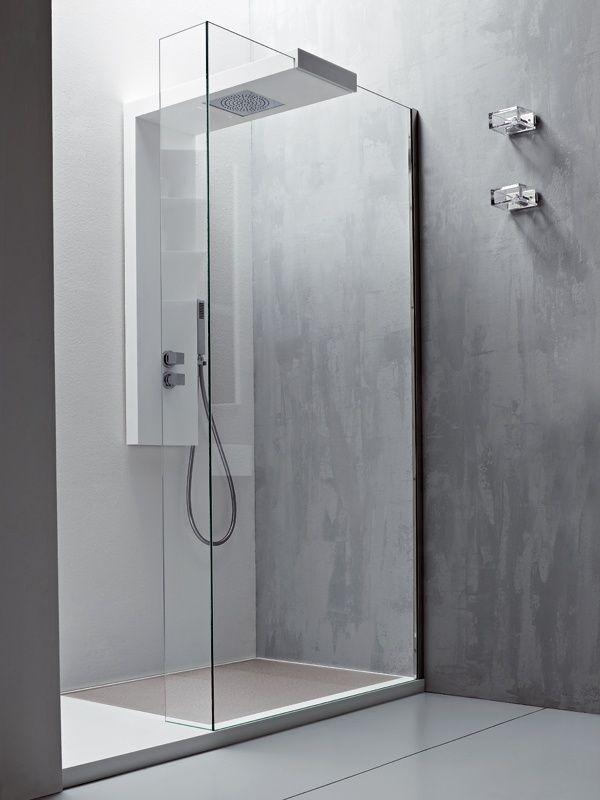 acrylic panels for bathroom walls%0A glass shower walls   Modular glass shower wall panel ARGO by Rexa Design   bathroom