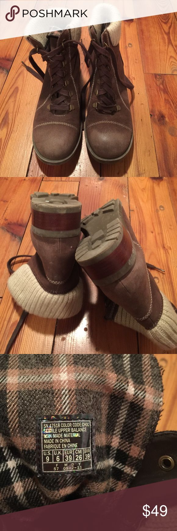 NWOT SKETCHERS boots NWOT SKETCHERS boots worn once. No stains or signs of wear. Toe has distressed look as shown in pics. Great fashion and function boot for fall! Sketchers Shoes Lace Up Boots