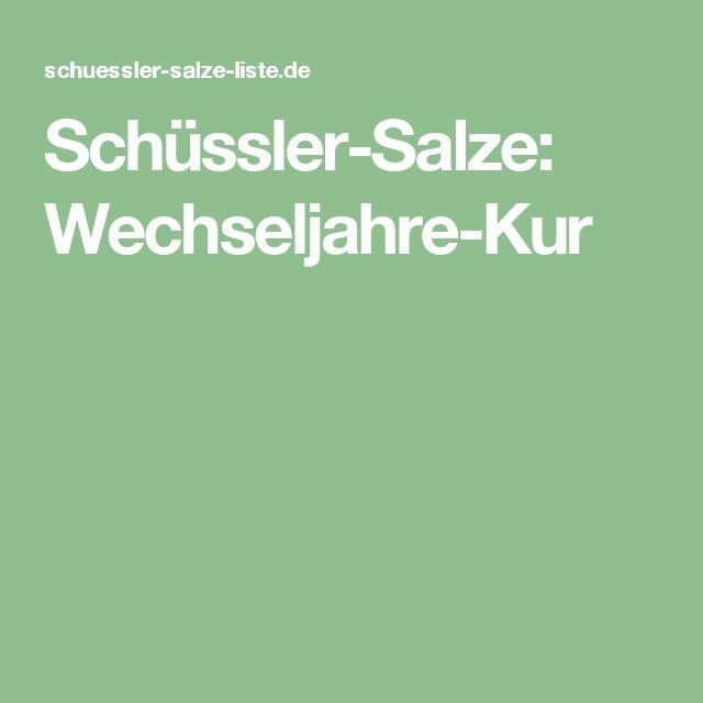 Schüssler-Salze: Wechseljahre-Kur