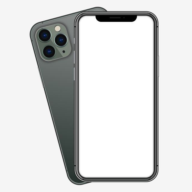 Iphone 11 Black Metallic Looks Front And Back Blank Web Icon