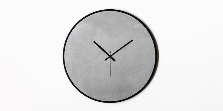 Concrete wall clock | xline