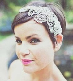 23 best short wedding hair ideas images on pinterest bridal beauty image by anna hardy find this pin and more on short wedding hair junglespirit Gallery