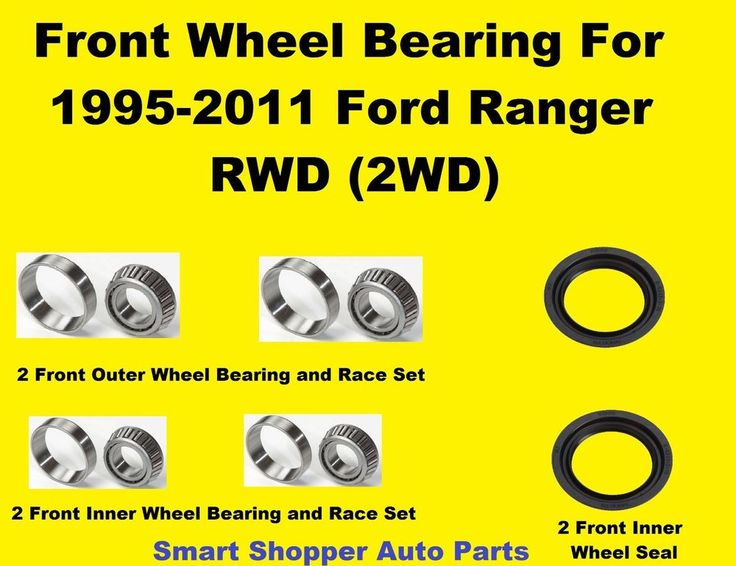 Front Wheel Bearing and Seal Set For 1995-2011 Ford Ranger ...