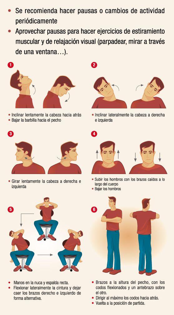 Realiza estos sencillos ejercicios en tu puesto de trabajo for Estiramientos oficina
