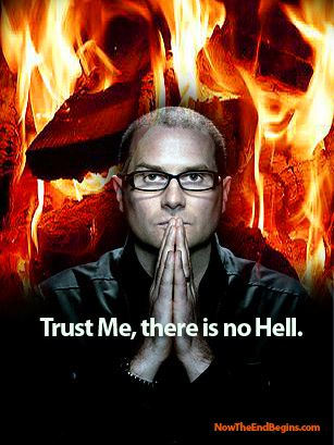 """The Time magazine article ends with Pastor Bell, having dismissed the bible doctrine of Hell, smugly retorts that """"something new is in the air"""". Actually, Mr. Bell, it's not something new, it's something as old as the Devil himself. And you do his work when you teach lies and false doctrine, such as you have done with your book, """"Love Wins""""."""