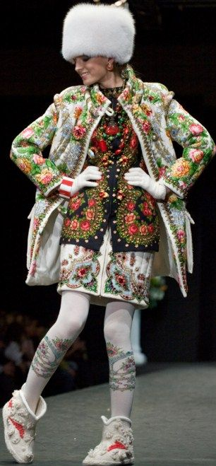 Russian style in fashion. Slava Zaitsev, a fashion designer from Moscow.