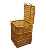 Buy VISO Cane Laundry Basket with Lid  Online  - Laundry Baskets - Laundry - Pepperfry