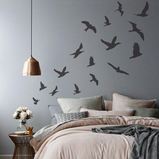 plantillas decorativas para pintar paredes y crear efectos como el papel tapiz y viniles decorativos