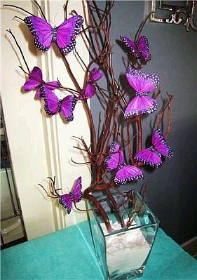 decoracion de mariposas para quinceanera - Google Search                                                                                                                                                      Más